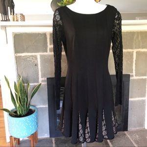 CATHERINE MALANDRINO | Black Dress Lace Sleeves 6
